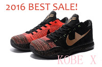 Wholesale Sale Woven Table - 2016 Hot Sale!! Kobe 10 Elite Low Cut Weaving Christmas KOBE X Basketball Shoes Retro Bryant 10 Black Red Sneakers Euro 40-46 802560-076