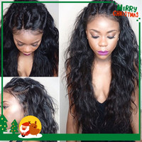 Wholesale Wet and Wavy Peruvian Virgin Hair Lace Front Wigs Bleached Knots Glueless Full Lace Wigs Water Wave Human Hair Wigs With Baby Hair