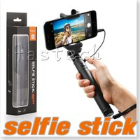 Wholesale Iphone Battery Stick - Selfie Stick Headphone Jack, One-piece Battery Free No Bluetooth 3.5mm Cable take pole Camera Stick Monopod For iPhone 6s 6s Plus