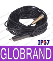 Wholesale Pipe Cctv - 15M USB Waterproof Mini Borescope Endoscope Inspection Pipe Snake Tube Micro CCTV Cameras Security 14.5mm Lens 4 LED 1 6 CMOS GLO743