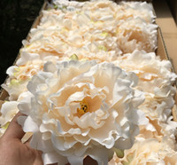 Wholesale Simulation Artificial Flower Camellia Rose - DHL high quality 15cm Silk Peony Flower Heads Wedding Party Decoration Artificial Simulation Silk Peony Camellia Rose Flower