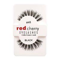 Wholesale Super Long False Eyelashes - 12 Pairs Box Red Cherry Handmade Mink False Eyelashes and Super Long Messy Natural Eyelashes for Beauty Makeup