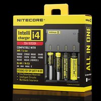 Wholesale Intellicharge I4 - New Nitecore i4 Intellicharge Universal Battery Charger RCR123A 26650 18650 AA AAA WIth Retail Package & Charging Cable