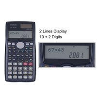 Dual Power Taschenrechner Kaufen -Scientific Calculator Counter 401 Funktionen Matrix Punkt Vektor Gleichung Berechnen Solar und Batterie Dual Powered 2 Line Display Business Offi