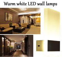 Wholesale Kitchen Wall Lighting Fixtures - New Modern 3W 6W Aluminum Wall Lights Kitchen Restaurant Living Bedroom Indoor Bathroom Fixtures Led Wall Sconce Lamps for Christams