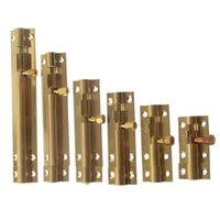 Wholesale Home Hardware Door Locks - 2pcs 1.5inch 2inch 2.5inch 3inch 4inch 5inch Golden Brass Door Lock Bolt Latch Barrel Home Safety Hardware and Screw