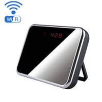 Wholesale Ip Phone Recording - WIFI 1080P Mini Camera Clock Wireless IP Camcorder with 5 MP 140° Veiw Angle Video record Home Security Camera Support phone remote control