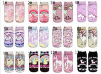 Wholesale 3d art sweet for sale - cute print unicorn cotton socks women girls spring summer korean animal funny sock sweet d art socks