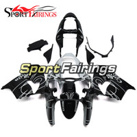 Carénages en plastique pour Kawasaki ZX-9R ZX9R 00 01 2000 - 2001 Injection ABS Motorcycle Full Fairing Kit Carrosserie Black White Motorbike Panels