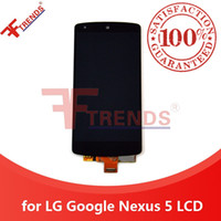 Wholesale Google Nexus Lcd - for LG Google Nexus 5 D820 D821 LCD Display & Touch Screen Digitizer Full Assembly Glass Touch Panel 100% Tested A+++ Original Dropshiping