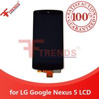 сенсорный экран для связи оптовых-для LG Google Nexus 5 D820 D821 ЖК-дисплей с сенсорным экраном дигитайзер полная сборка стеклянная сенсорная панель 100% тестирование + + + оригинальный Dropshiping