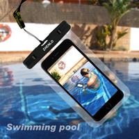 iphone caso de surf al por mayor-Funda estanca al agua 100% sellada para el iPhone 6 plus para iPhone7, para Samsung S6, S7, ajuste para siwmming, surf, deportes acuáticos