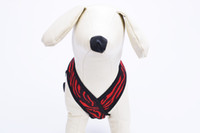 Wholesale Fabric Harness - Free Shipping! Wholesale Soft Air Mesh Stripe Fabric Breathable Adjustable Pet Dog Cat Harness Vest with Bingpe Label Two colors available