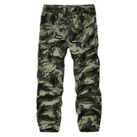 Wholesale Cargo Jeans Military Fashion - Camo Joggers Men outdoor Camouflage military Jogging trousers 2016 New Fashion Waist Drawstring Elastic Waist jeans Cargo pants