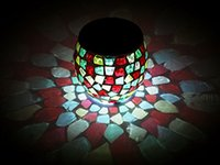 Solarstars Solar Powered Mosaic Solar Lights LED Magic Sunshine Ball Colore che cambia cristallo Bella festa giardino yard Night Lights