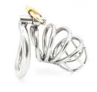 Wholesale toys bdsm free shipping - Stainless Steel Male Chastity device Adult Cock Cage With arc-shaped Cock Ring BDSM Sex Toy Bondage Men Chastity Belt Free Shipping
