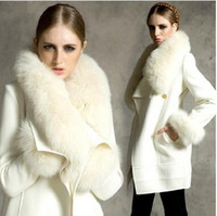 Wholesale Women Sheepskin Jacket - Really high quality sheepskin coat Rabbit fur jacket female fox fur of luxury Warm winter high-quality fur coat white