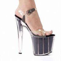 Wholesale Wedding Shoe Buy - Must Buy Item! 17cm Sexy Super High Heel Crystal Sandals, Platforms Performance   Star   Model Shoes, Wedding Shoes