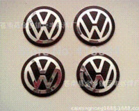 Wholesale Vw Badge Key Remote - 50x VW Key Fob Remote Badge Logo Emblem Sticker 14mm Passat Golf Polo Bora Trans
