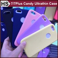 Wholesale Ice Blue Iphone Case - Candy Color Ultra Thin Frosted TPU Case For iPhone 7 Plus Soft Gel Ice Cream Series Cover