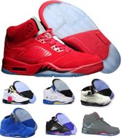 Wholesale Real Leather Basketball Shoes - Classic Retro 5 V Basketball Shoes Men Women Sneakers Authentic Oreo Retro Shoes J5s V Sports Homme Zapatos Real Replicas