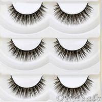 Wholesale makeup tools cute online - 5 Pairs Cute Handmade Soft Thick Cross Eye Lashes Extension Long Beauty False Eyelashes Makeup tools