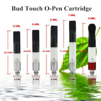 Wholesale Slim Ego Tank - Bud Touch CE3 Cartridge Tank 0.3ml 0.4ml 0.5ml 0.6ml 1.0ml Mini Slim Vaporizer Pen Oil Wax Ecigs 510 Thread Atomizer Fit eGo EVOD Battery