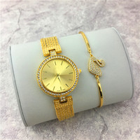 Wholesale Colorful Foreign - Luxury Women watches Gold Tassels Colorful Stainless steel Lady Wristwatch Female clock Bracelet relogio masculine Foreign trade sales Sexy
