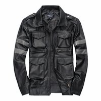 Wholesale Games Resident - Fall-Hot BIOHAZARD Game Resident Evil 6 Leon Jacket Gentlemen Cavalier Men PU Leather Jacket Motorcycle Outerwear Man Jacket Man Coat