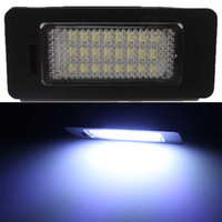 Wholesale Vw Plate Light - 2X Error Free 24 SMD LED License Plate Light Lamp For VW Golf 7 Jetta Sharan 7N