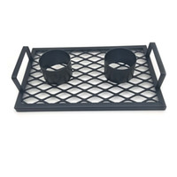 Wholesale Can Cooker - 1 pc Double beer can chicken cooker Baking Pan Grilled Roast Rack For Outdoor Camping BBQ