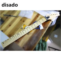 disado 21 22 24 Frets cor de madeira maple Guitarra elétrica Neck maple fingerboard inlay dots glossy paint Guitar parts accessories