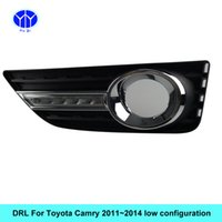 Kit DRL auto per TOYOTA CAMRY 2011 2013 2014 Daytime Running light bar fendinebbia luce diurna per auto 12v luce auto