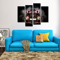 Wholesale Automobiles Pictures - 4 Panel Modern Home Furnishing Decorative Wall Automobile HD Canvas Print Art wall Room Decoration Automobile Oil Painting For Home Decor