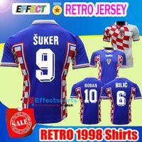 Wholesale National Vintage - Retro 1998 Vintage MODRIC Suker BILIC BOBAN National Futbol Team Soccer Jerseys World Cup Croatiaes Mexico Limited Edition Football Shirts