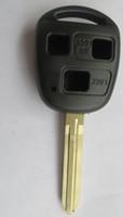 lâmina não cortada venda por atacado-KL60 3 Botões Substituição Caso Keyless Entry Remoto Chave Shell Capa Fob Uncut Lâmina Para Toyota Camry Land Cruiser FJ Cruiser