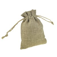 Wholesale Coffee Bean Packaging Bags - Faux jute Small Jute Bags with Hessian Drawstring 8x11cm for candy coffee bean Jewelry wedding bomboniere Gift packaging