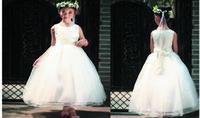 Wholesale High Quality Wedding Dres - 2016 High quality bridesmaid wedding sleeveless Children evening dress elegant evening dress girl summer lovely gauze beautiful party dres