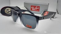 Wholesale Online Frame - Fashion Rays Sunglasses Men Women Sun Glasses Brand Designer Justin Mirror Gafas de sol Bans Designer Male Eyewear with cases online