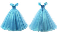 Wholesale Cinderella Dresses For Sale - Hot Sale Princess Girl Pageant Dress With Butterfly Spring Ball Gown Off Shoulder Cinderella Bridal For Evening Party Kids Dresses