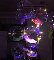 ingrosso palloncini d'illuminazione a elio-2017 Nuovi giocattoli luminosi a LED Luci a corde Lampeggiatore Illuminazione Palloncino onda Palla Palloncini ad elio da 18 pollici Giocattoli di decorazione di Halloween di Natale