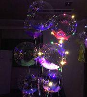yakıyorum toptan satış-2017 Yeni Light Up Oyuncaklar LED Dize Işıklar Flaşör Aydınlatma Balon dalga Topu 18 inç Helyum Balonlar Noel Cadılar Bayramı Dekorasyon Oyuncaklar