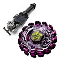 Wholesale 4D Bayblade Metal Fight BB86 Purple Poison Zurafa Giraffe S130MB Metal Ball Bottom Bayblade L R Starter Launcher Hand Grip