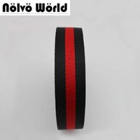 Wholesale Thick Nylon Belts - 32MM 1.2 inch Wide 1.5mm Thick Black Red color twill pattern nylon ribbon tape bag straps men belt seatbelt safety belt