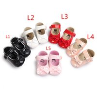 Wholesale First Month - BX162 36 colors baby moccasins soft sole leather shoes first walker shoes leopard newborn stripe baby shoe Tassels maccas shoes 0-18 month