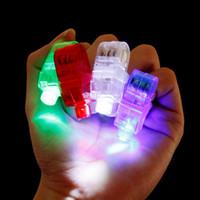 neuheit führte kind lampe groihandel-Led finger lichter neuheit beleuchtung led fingerring lampe leuchten laser finger strahlen led blinkring party flash kid toys großhandel