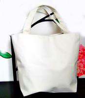 Wholesale pure white handbags - white pure Nylon organizer Bags blank plain zipper handbag small phone hand bag for men women kids DIY Gift canvas bags wholesale