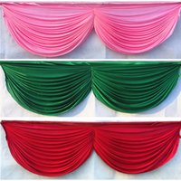 Wholesale skirt for table - 6m length 20ft Wedding table swags for event party backdrop decoration detachable wedding swags table skirt hotel banquet decor