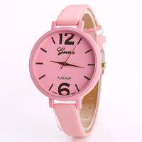 Wholesale wholesale watches japan - Geneva Watch 8 Colors Woman Japan Movement Quartz Watch Stainless Steel Back Free Shipping Via DHL