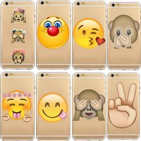 Wholesale Monkey Phone Covers - For iPhone 7 6 6S Plus 5 5S Emoji Phone Soft Cases TPU Rubber Monkey Shy Cover for iPhone7 7Plus 5.5""